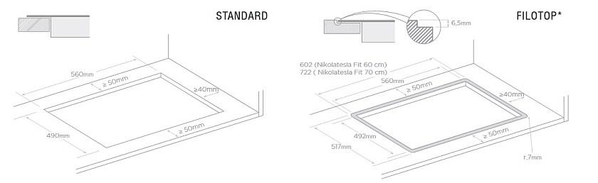 Аспириращ плот Elica NikolaTesla FIT нови модел котлон и аспиратор две в едно 60см и 70см
