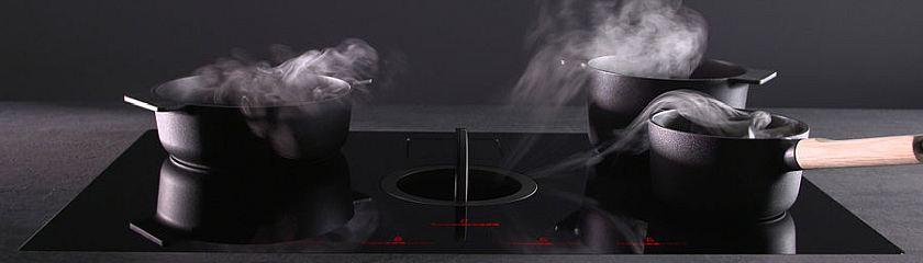 Аспириращ плот Elica NikolaTesla Switch новият модел котлон и аспиратор две в едно