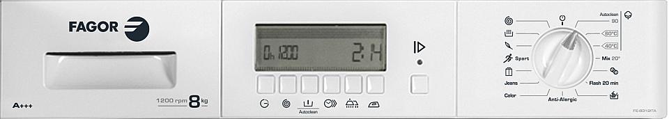 панел за управление на перална машина за пълно вграждане Fagor
