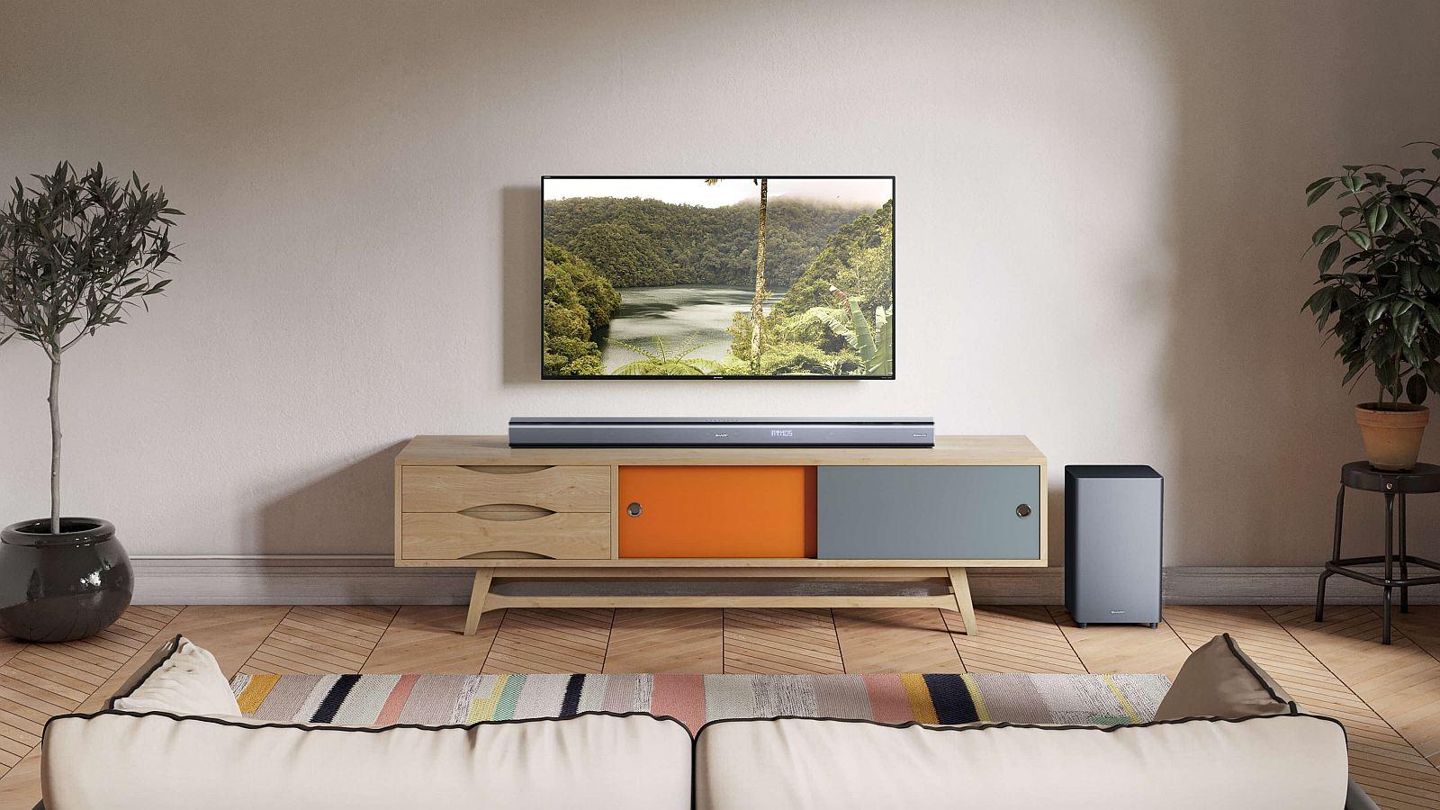 5.1.2 Dolby Atmos® Саундбар с безжичен субуфер Sharp HT-SBW800