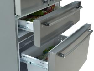 Този хладилник Sharp има уникални форми и дизайн