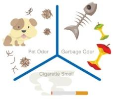Йонизаторът е силно ефективен при премахване миризми