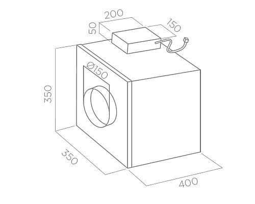 ELICA кухненски луксозни аспиратори / абсорбатори схема за монтаж